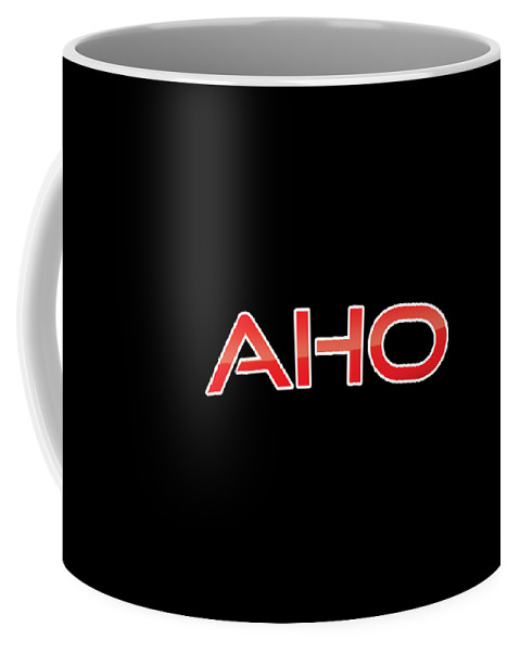 Aho Coffee Mug featuring the digital art Aho by TintoDesigns