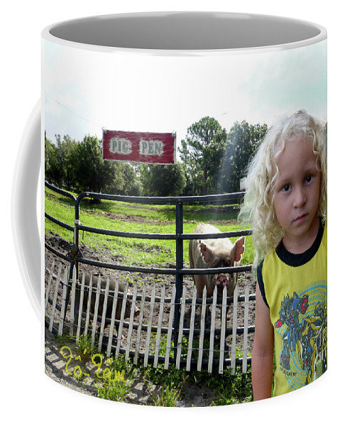 Pig Coffee Mug featuring the digital art Alexzainder With The Nicky by To-Tam Gerwe
