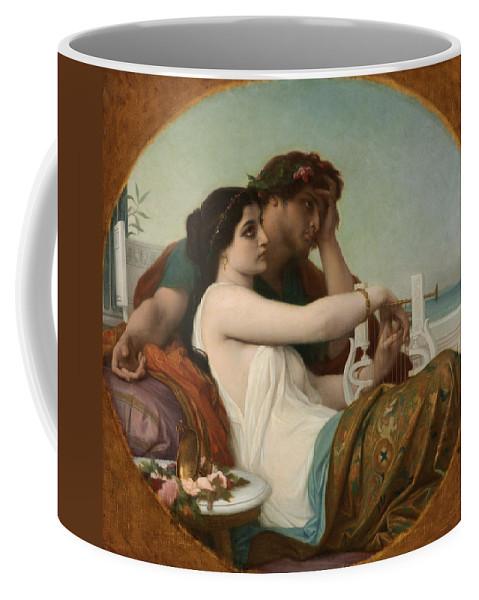 Alexandre Cabanel Coffee Mug featuring the painting Algae And Boniface, 1857 by Alexandre Cabanel