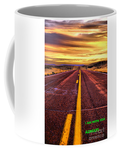 Road Coffee Mug featuring the photograph Always by Jeff Swan