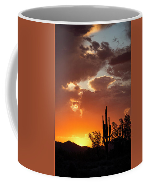 Arizona Coffee Mug featuring the photograph Always Look To The West by Cathy Franklin