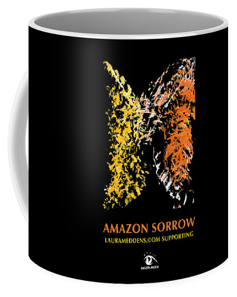 Amazon Coffee Mug featuring the painting Amazon Sorrow by Laura Meddens