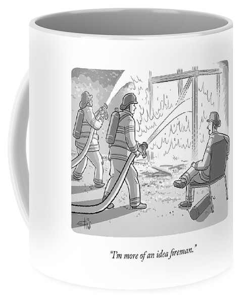 An Idea Fireman Coffee Mug