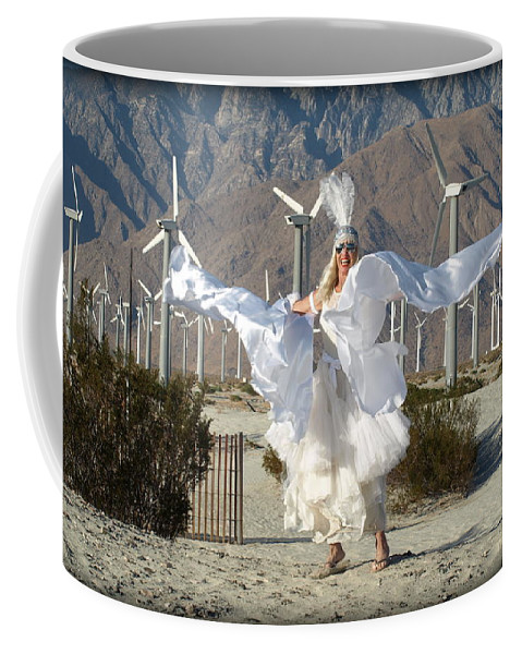 Coachella Valley Coffee Mug featuring the photograph Angel Swirling In The Desert by BB Berg Bob Powelson