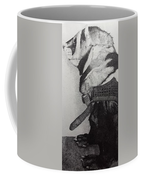 Stippling Coffee Mug featuring the drawing Archie by Amber Spehar