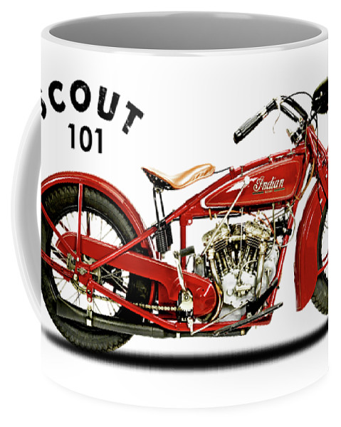 Indian Scout 101 Coffee Mug featuring the photograph The Scout 101 1929 by Mark Rogan