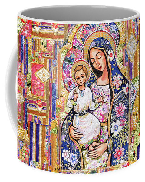 Mother And Child Coffee Mug featuring the painting Panagia Eleousa by Eva Campbell