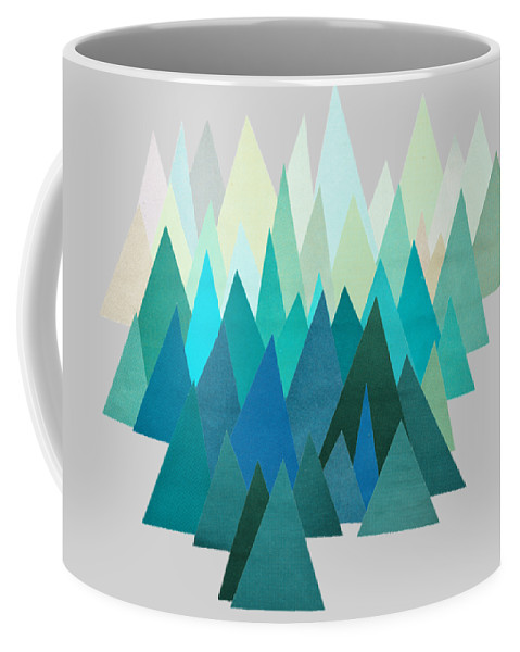 Mountains Coffee Mug featuring the mixed media Cold Mountain by Cassia Beck