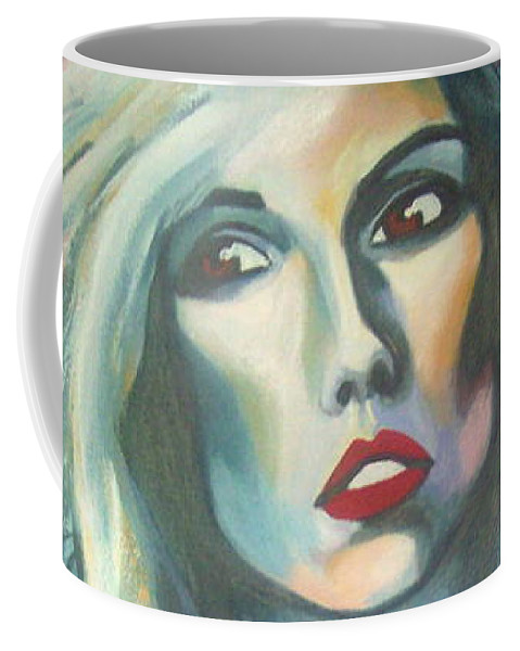 Woman Coffee Mug featuring the painting Atomic by Lee Wilde-Portraits