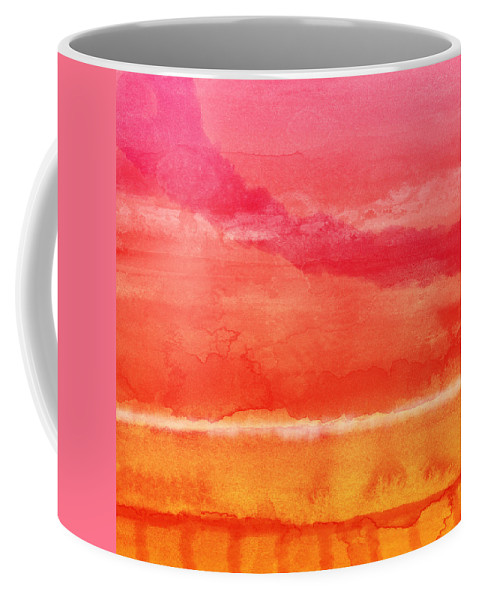 Abstract Coffee Mug featuring the painting Awakened 5 - Art by Linda Woods by Linda Woods