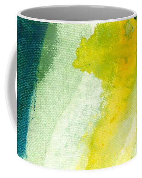 Abstract Coffee Mug featuring the painting Back by Claire Desjardins