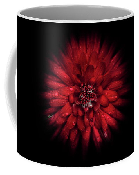 Abstract Coffee Mug featuring the photograph Backyard Flowers 45 Color Flow Version by Brian Carson