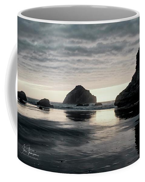 Bandon Beach Coffee Mug featuring the photograph Bandon Beach Sunset 1 by Jim Thompson