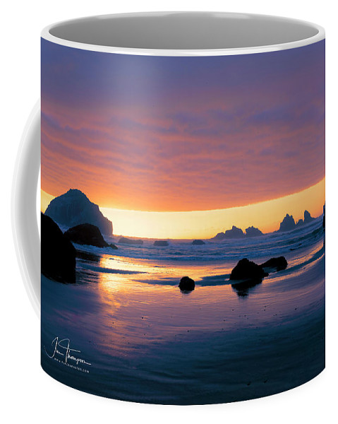 Bandon Beach Coffee Mug featuring the photograph Bandon Beach Sunset 4 by Jim Thompson