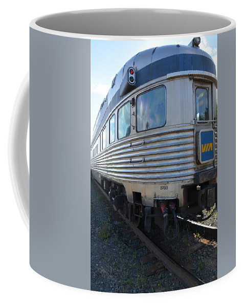 Railway Coffee Mug featuring the photograph Banff Park Car by Norman Burnham