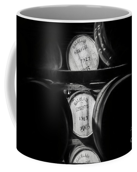 Balblair Coffee Mug featuring the photograph Barrels Of Whiskey Part 1 by Erik Brede
