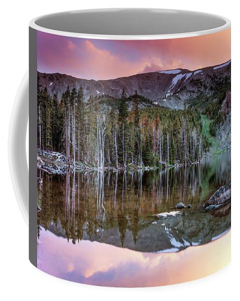 Idaho Scenics Coffee Mug featuring the photograph Basin Lake Sunset by Leland D Howard