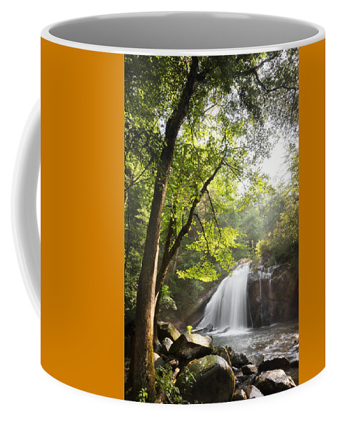 Appalachia Coffee Mug featuring the photograph Beams Of Light by Debra and Dave Vanderlaan