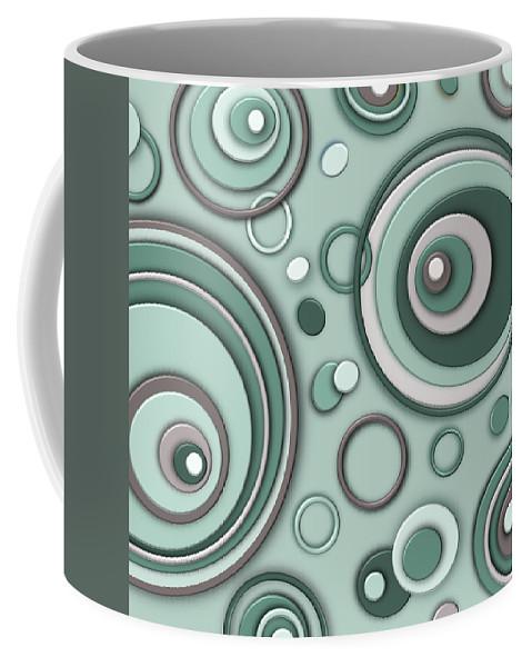 Mid Century Modern Coffee Mug featuring the digital art Bedroom Eyes by Tara Hutton