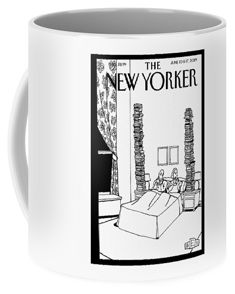 Bedtime Stories Coffee Mug featuring the drawing Bedtime Stories by Bruce Eric Kaplan