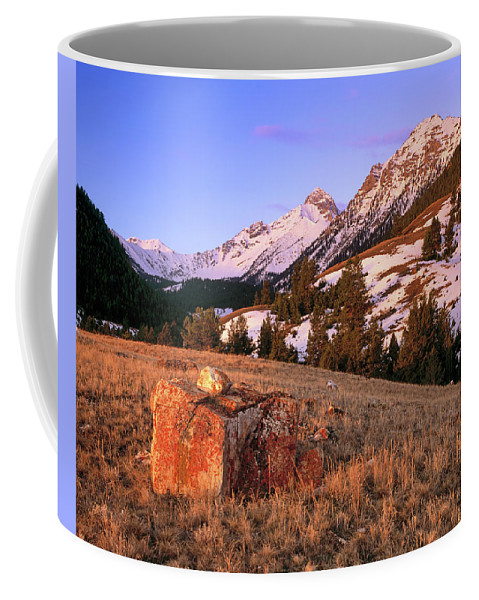 Idaho Scenics Coffee Mug featuring the photograph Bell Mountain Sunrise by Leland D Howard