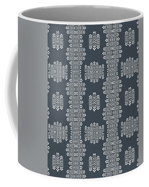Grey And White Coffee Mug featuring the digital art Bella Cake Shea by Ceil Diskin