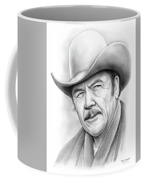 Ben Johnson Coffee Mug featuring the drawing Ben Johnson by Greg Joens