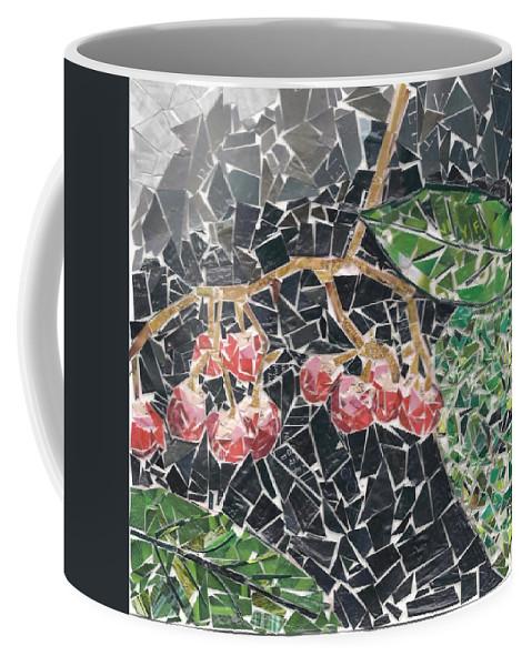 Berries Coffee Mug featuring the mixed media Berries by Karla Clark