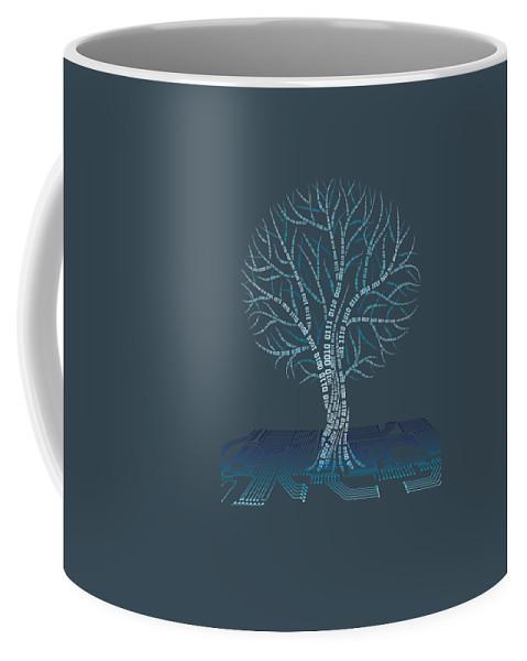 girls' Novelty Clothing Coffee Mug featuring the digital art Binary Tree Computer Coding T-shirt by Do David