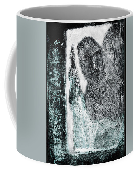 Black Ivory Coffee Mug featuring the drawing Black Ivory Issue 1b60a by Artist Dot