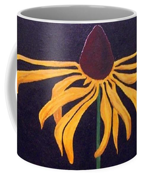 Flower Coffee Mug featuring the painting Blackeye Susan by Ron Tango Jr