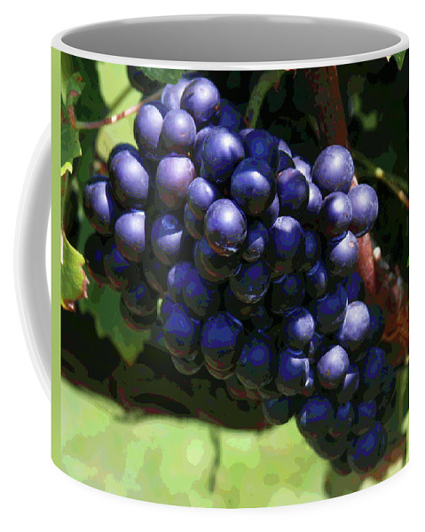 Purple Grapes Coffee Mug featuring the photograph Blue Grape Bunches 5 by Cathy Lindsey