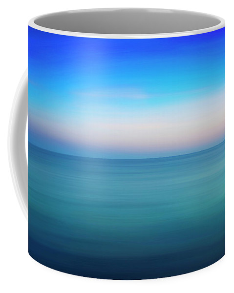 Photography Coffee Mug featuring the photograph Blue Sea At Sundown by Vicente Sargues