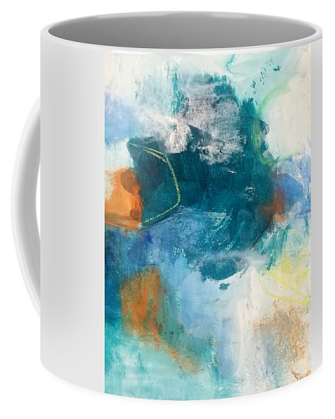 Abstract Coffee Mug featuring the painting Blue Summer by Patricia Byron