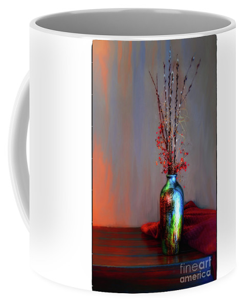 Fine Art Photography Coffee Mug featuring the photograph Blue Vase by John Strong