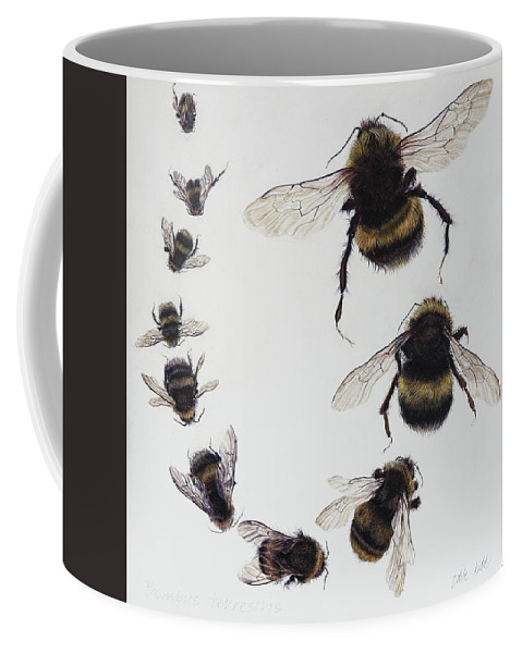 Nature Coffee Mug featuring the painting Bombus by Odile Kidd