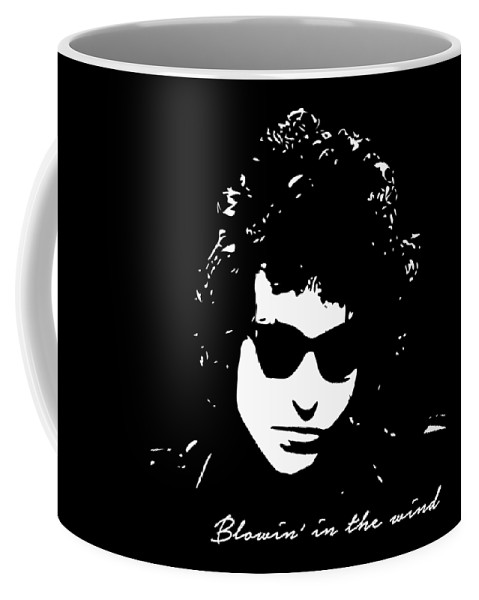 Bob Dylan Coffee Mug featuring the digital art Bowin' In The Wind by Filip Schpindel