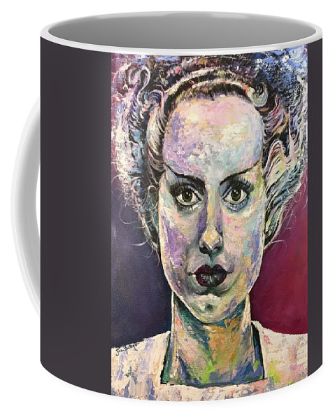 Bride Coffee Mug featuring the painting Bride Of Frankenstein by Jill Allport