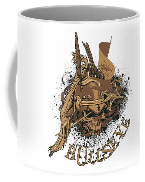 Halloween Coffee Mug featuring the digital art Bullseye by Passion Loft