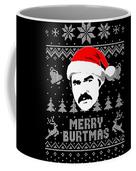 Christmas Coffee Mug featuring the digital art Burt Reynolds Christmas Shirt by Filip Hellman