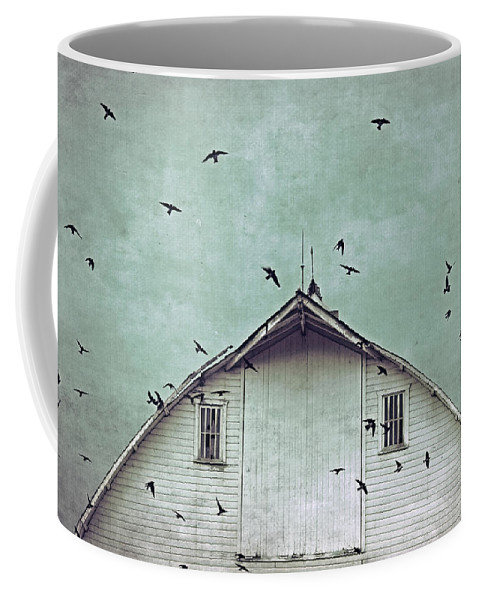 Top Selling Art Coffee Mug featuring the photograph Busy Barn by Julie Hamilton