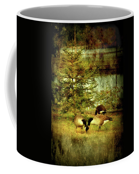 Autumn Coffee Mug featuring the photograph By The Little Tree - Lake Carasaljo by Angie Tirado