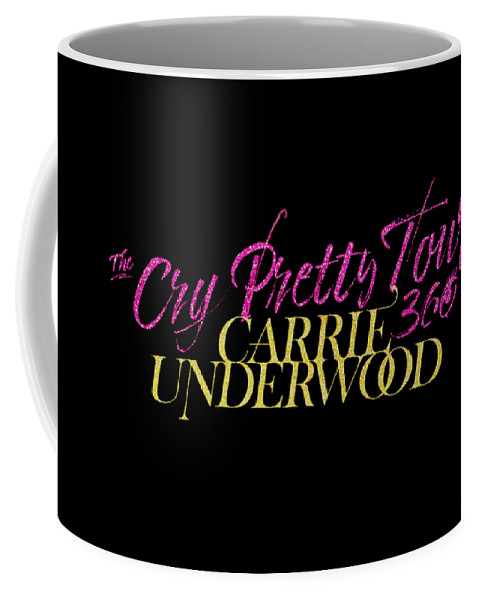 Carrie Underwood Cry Pretty 2019 Ajadcode11 Coffee Mug featuring the digital art Carrie Underwood Cry Pretty 2019 Ajadcode11 by Ajad Setiawan