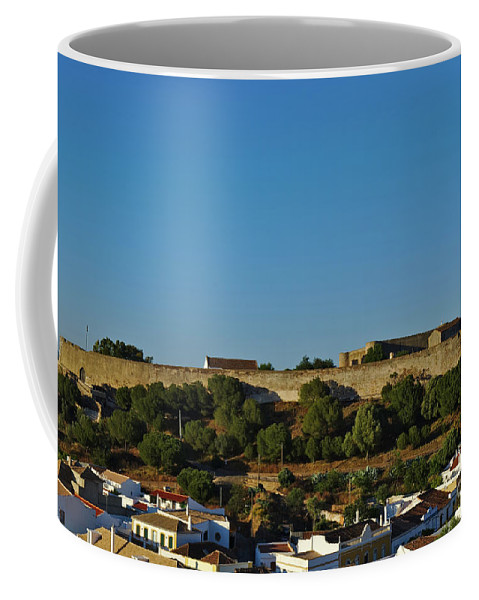 Cityscape Coffee Mug featuring the photograph Castle Of Castro Marim From The Hill by Angelo DeVal