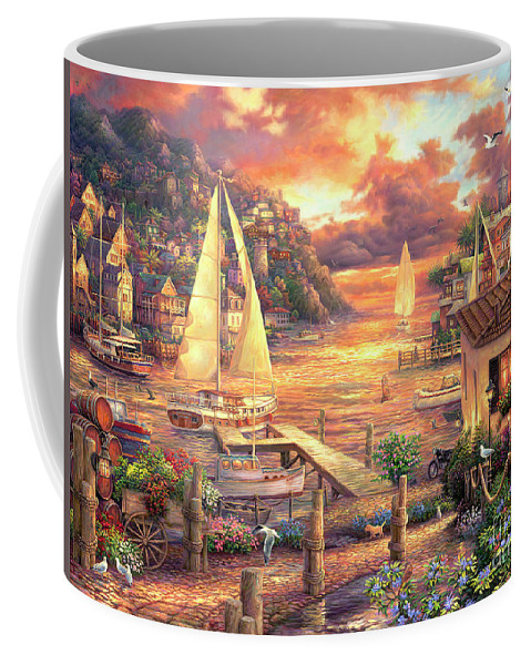 Imaginative Art Coffee Mug featuring the painting Catching Dreams by Chuck Pinson