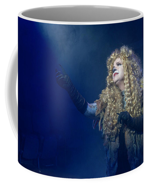 Broadway Coffee Mug featuring the photograph CATS Publicity image by Alan D Smith