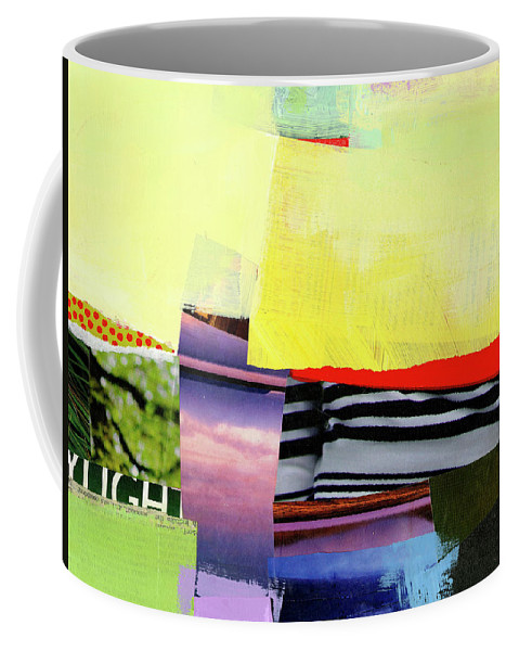 Abstract Art Coffee Mug featuring the painting Checkered Past by Jane Davies