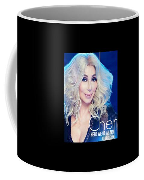 Cher Here We Go Again 2019 Coffee Mug featuring the digital art Cher Here We Go Again 2019 by Ajad Setiawan