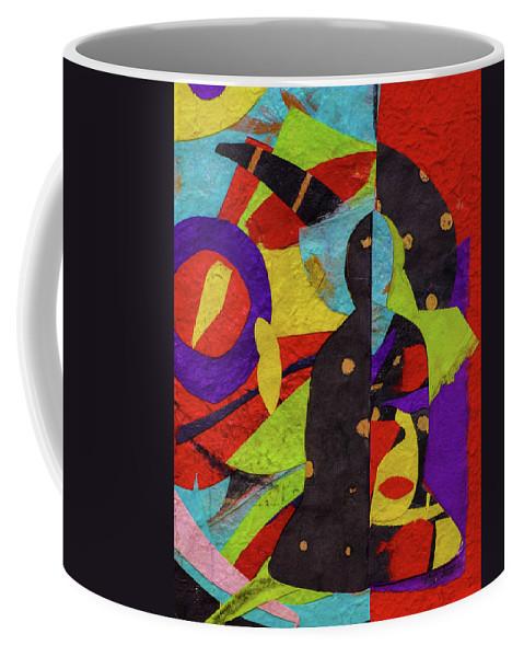 Buddha Coffee Mug featuring the mixed media Chiang Mai Buddha Collage 6 by Stephen Humphries
