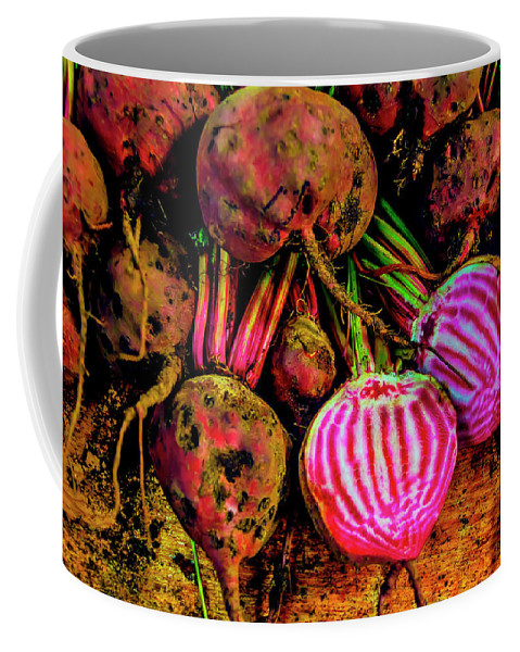 Chioggia Beets Coffee Mug featuring the photograph Chioggia Beets by Garry Gay